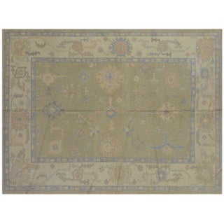 "Sage Turkish Oushak Rug - 88"" x 117"""