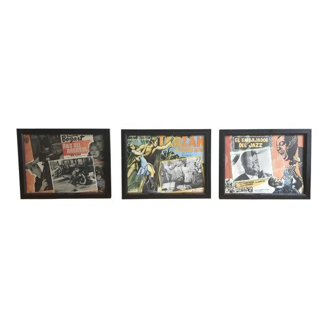 Framed Vintage Spanish Hollywood Movie Posters - Set of 3 - Image 1 of 6