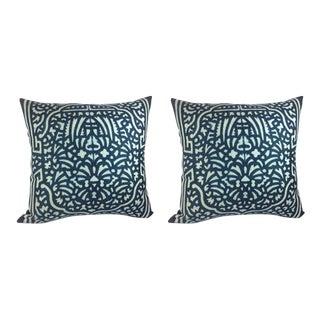 "William Yeoward ""Felix"" in Indigo Pillows - a Pair"