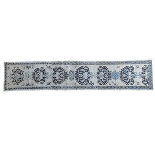 "Distressed Black Oushak Rug Runner - 2'3"" x 11'2"""