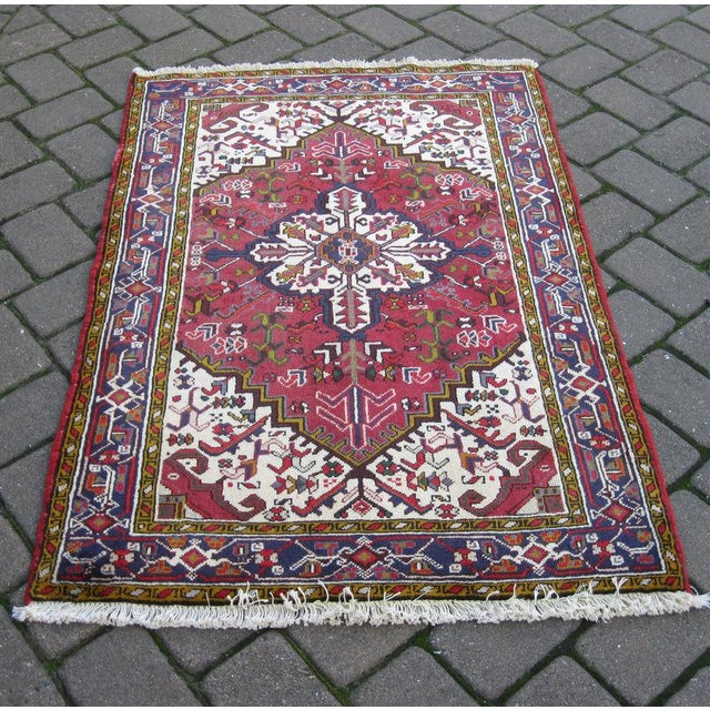 Persian Heriz Rug - 3′1″ × 4′7″ - Image 3 of 3