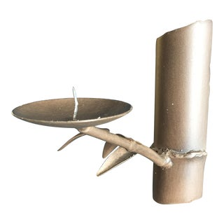Metal Bamboo Branch Wall Sconce