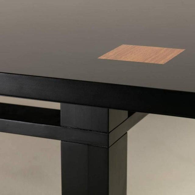 Image of Saporiti Designed Extendable Lacquered Wood Dining Table, 1980s