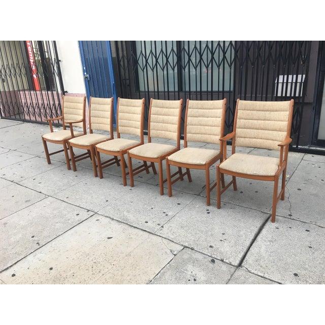 Danish Modern Teak Dining Chairs - Set of 6 - Image 2 of 11