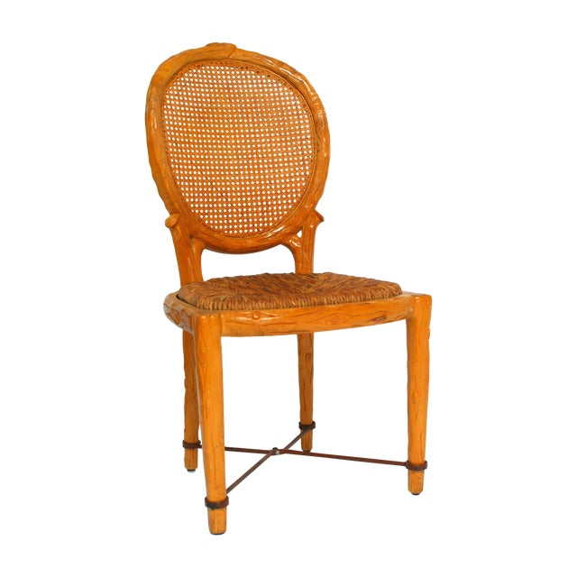 Spanish Carved Faux Bois Chair - Image 1 of 5