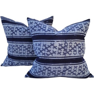 Yao Hill Tribe Cross Batik Pillows - Pair