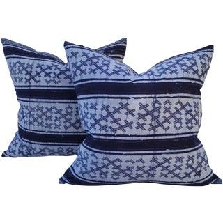 Yao Hill Tribe Cross Batik Pillows - Pair