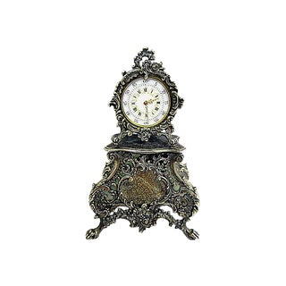 French Sterling Mini-Clock