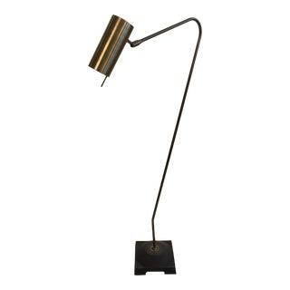 Modern Brass Swivel Floor Lamp