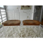 Image of Mid-Century Lucite & Ash Wood Chairs - A Pair
