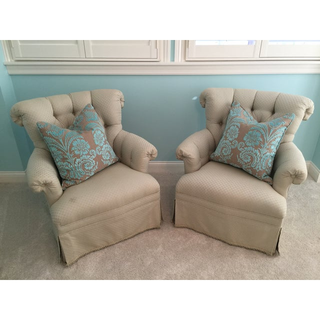 Tufted French Chairs - A Pair - Image 3 of 10