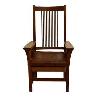 Stickley Prairie-Style Back Dining Armchair