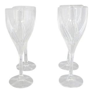 Tulip-Shape Crystal White Wine Goblets - Set of 4