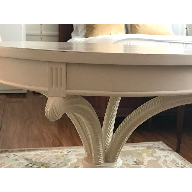 Painted White Bistro Side Table - Image 3 of 6