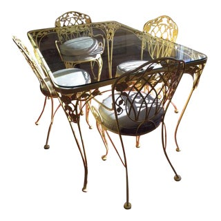 Woodard Furniture Co. Patio Wrought Iron Dining Set