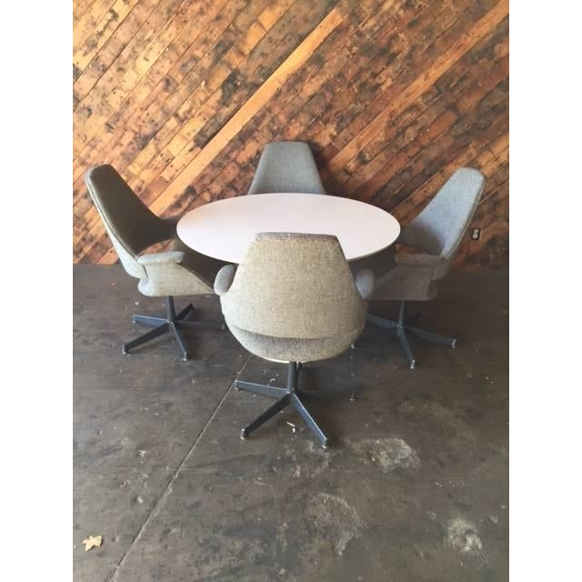 Image of Vintage Saarinen Style Tulip Table & Four Chairs