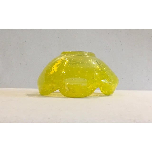 Image of Murano Mid-Century Canary Yellow Catch-All Bowl