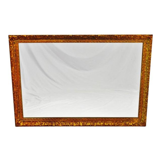 Vintage 1964 Gold Gilt Gesso Framed Wall Mirror - Image 1 of 9