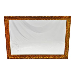 Vintage 1964 Gold Gilt Gesso Framed Wall Mirror