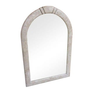 Maitland Smith Arched Tessellated Stone Mirror