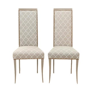 Neoclassical Style Accent Chairs - A Pair