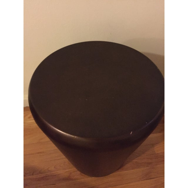 Crate & Barrel Bronze Drum End Table - Image 4 of 6