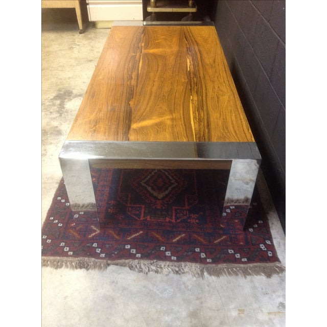Milo Baughman Rosewood & Chrome Coffee Table - Image 6 of 8
