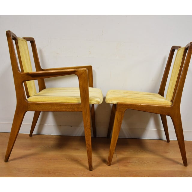 Mt. Airy Sculpted Walnut Dining Chairs - Set of 6 - Image 8 of 11