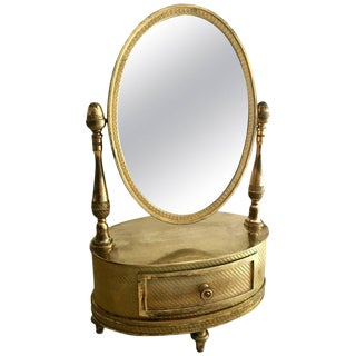 C. 1810-1820 French Empire Gilt Bronze Mirror