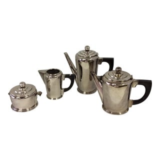 Art Deco Style Italian Silver Tea Set - 4 Pieces
