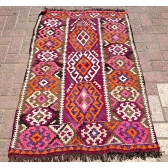 Vintage Kilim Style Rug - 3′ × 4′7″ - Image 2 of 7