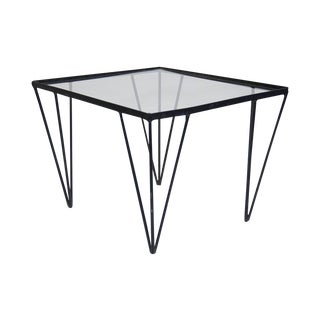 Mid-Century Modern Iron and Glass Table