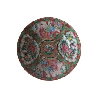 Antique Chinese Rose Medallion Plate