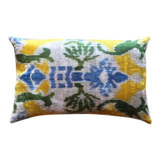 Brightly Colored Pillow Made From Soft Silk Thread