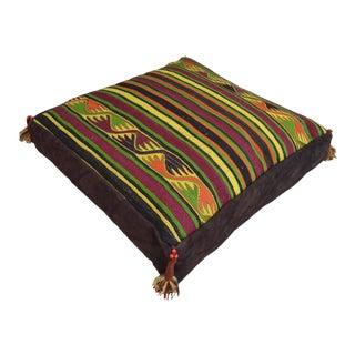 Handmade Turkish Kilim Pillow Cover Floor Cushion - 28″ X 28″