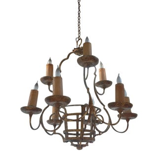 Antique Style Forged Iron Chandelier