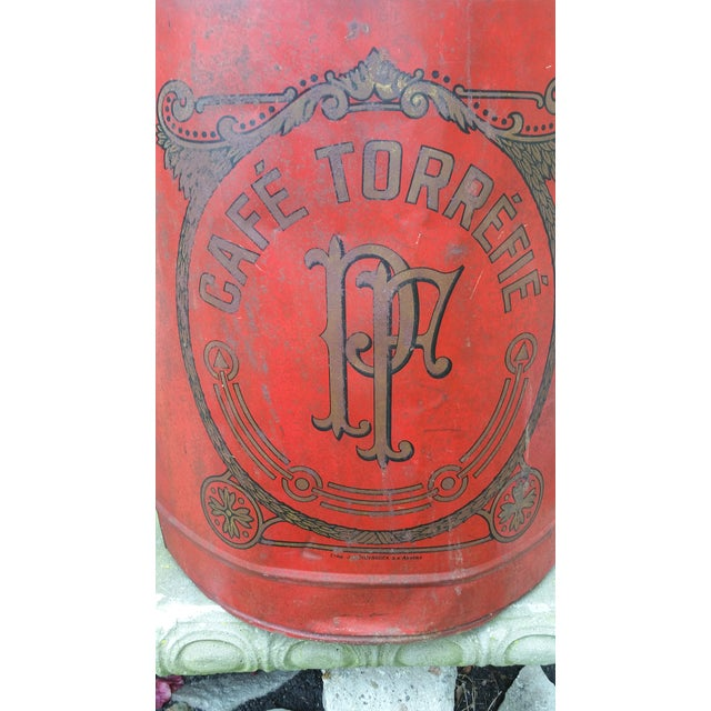 19th Century French Cafe Tin Hamper - Image 4 of 8