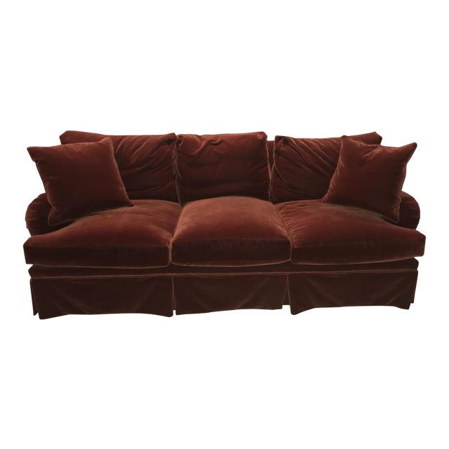 Mohair Upholstered O'Henry House Sofa - Image 1 of 7