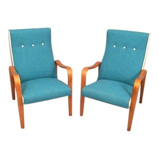 Thonet Bentwood Lounge Chairs - A Pair