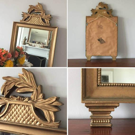 Vintage Gold Wall Mirror - Image 7 of 7