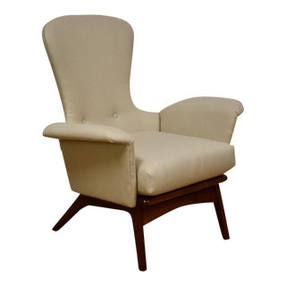 Adrian Pearsall Tall Back Walnut Lounge Chair