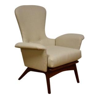 Adrian Pearsall Tall Back Walnut Lounge Chair