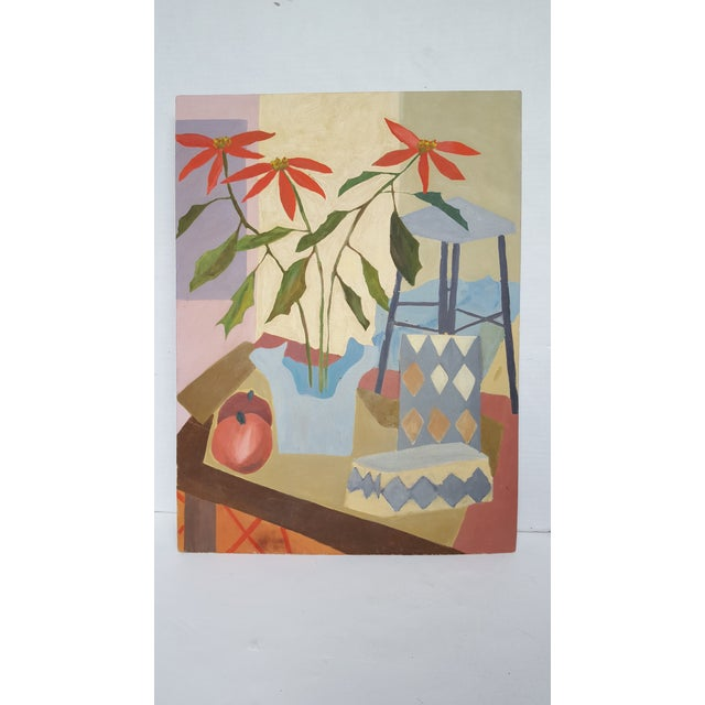 """Image of McDermott """"Potted Plant"""" Tablescape Painting"""