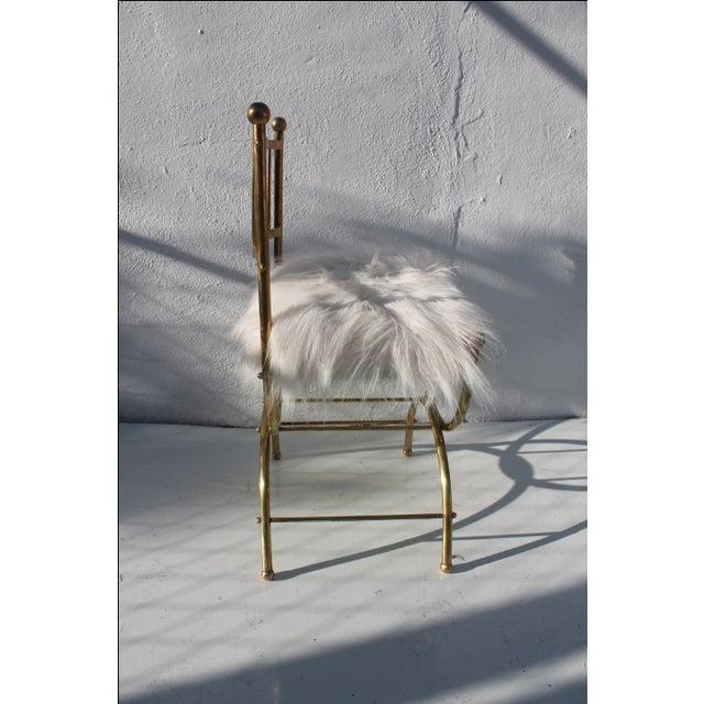 Italian Faux Mongolian Fur Accent Chair Chairish