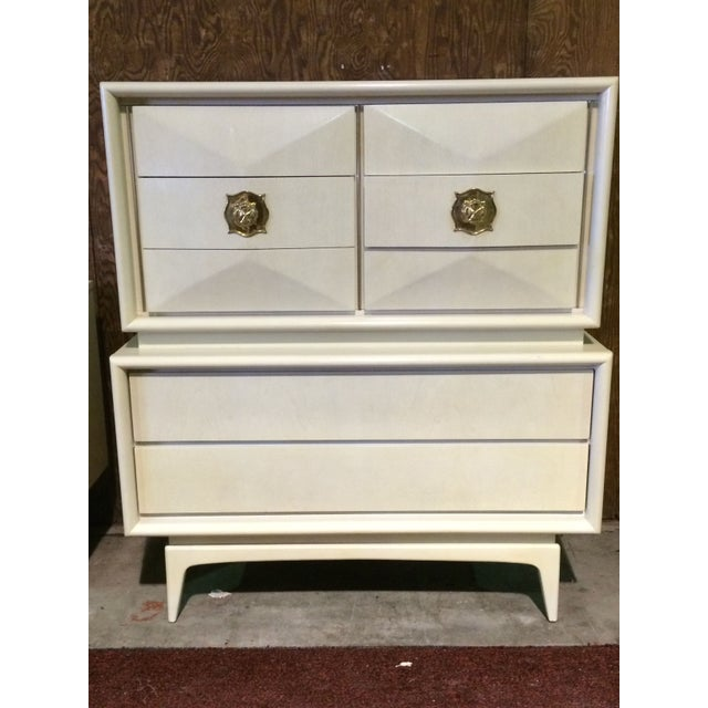 Diamond Sculpted Highboy Dresser - Image 2 of 8