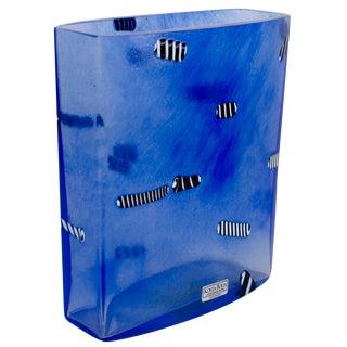 Kosta Boda Bertil Vallien Blue Licorice Vase