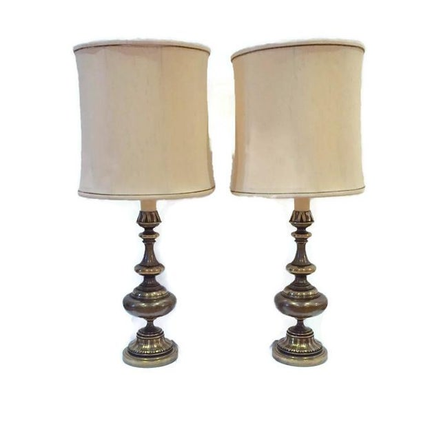 Huge Mid Century Brass Ornate Moroccan Lamps - 2 - Image 2 of 6