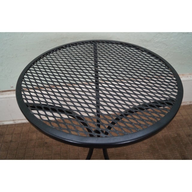 Round Metal Patio Side Tables - A Pair - Image 6 of 10