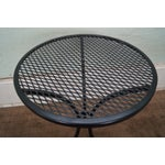 Image of Round Metal Patio Side Tables - A Pair