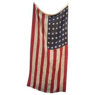 WWI Antique 48 Star American Wool Flag